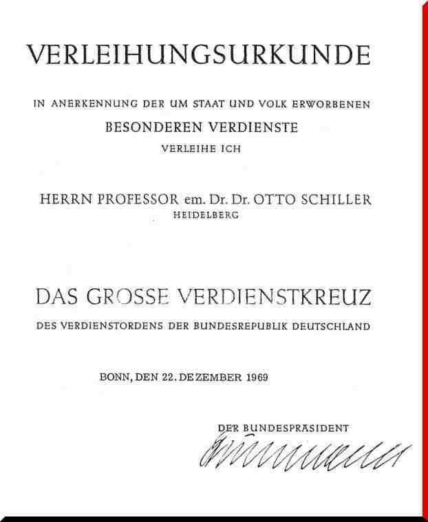 Verdienstkreuz Otto Schiller